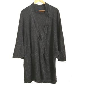 Jackets & Blazers - Grey Boiled Oversized Wool Cape / Coat, size X